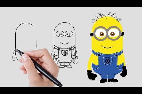 Cómo dibujar un Minion - Dibujar un Minion paso a paso - Aprender a dibujar